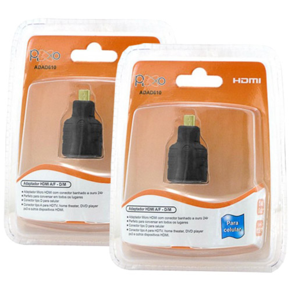Kit 2 Adaptadores micro hdmi ADAD610PPB