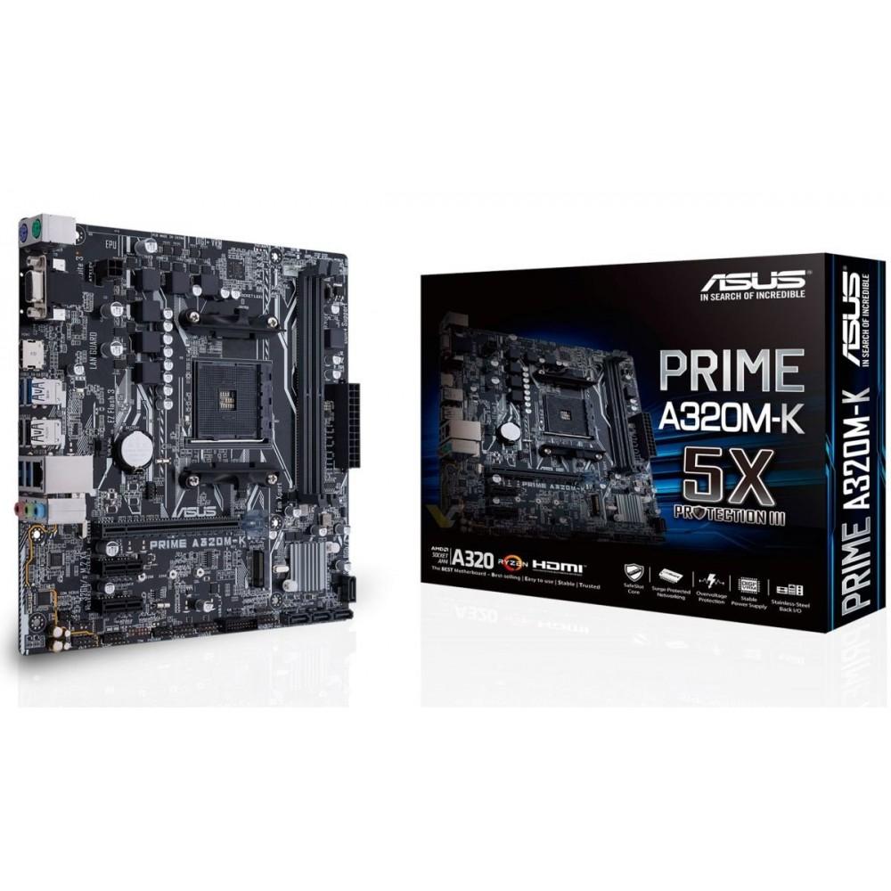 Placa-mãe Asus A320 AM4, DDR4 3200MHz, HDMI, SATA 6Gb/s - MB320MD4BR