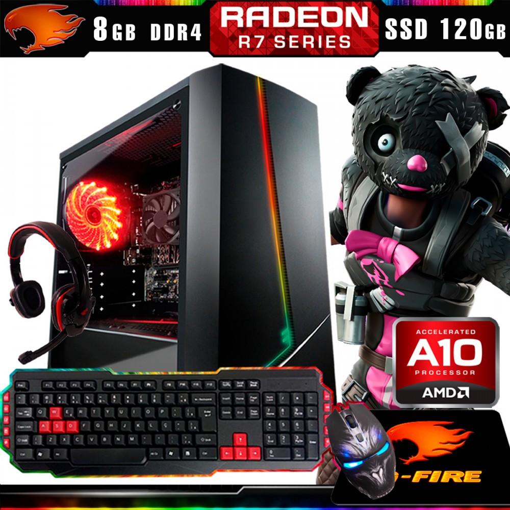 Pc Gamer Kit G-Fire Htg-431 AMD A10 9700 8Gb (Radeon R7 2Gb) SSD 120Gb