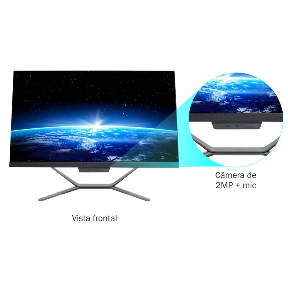 """Computador All in One Hometech HTA-ECG2EW Intel Celeron G5905 4Gb SSD 120Gb 23.8"""" W10"""