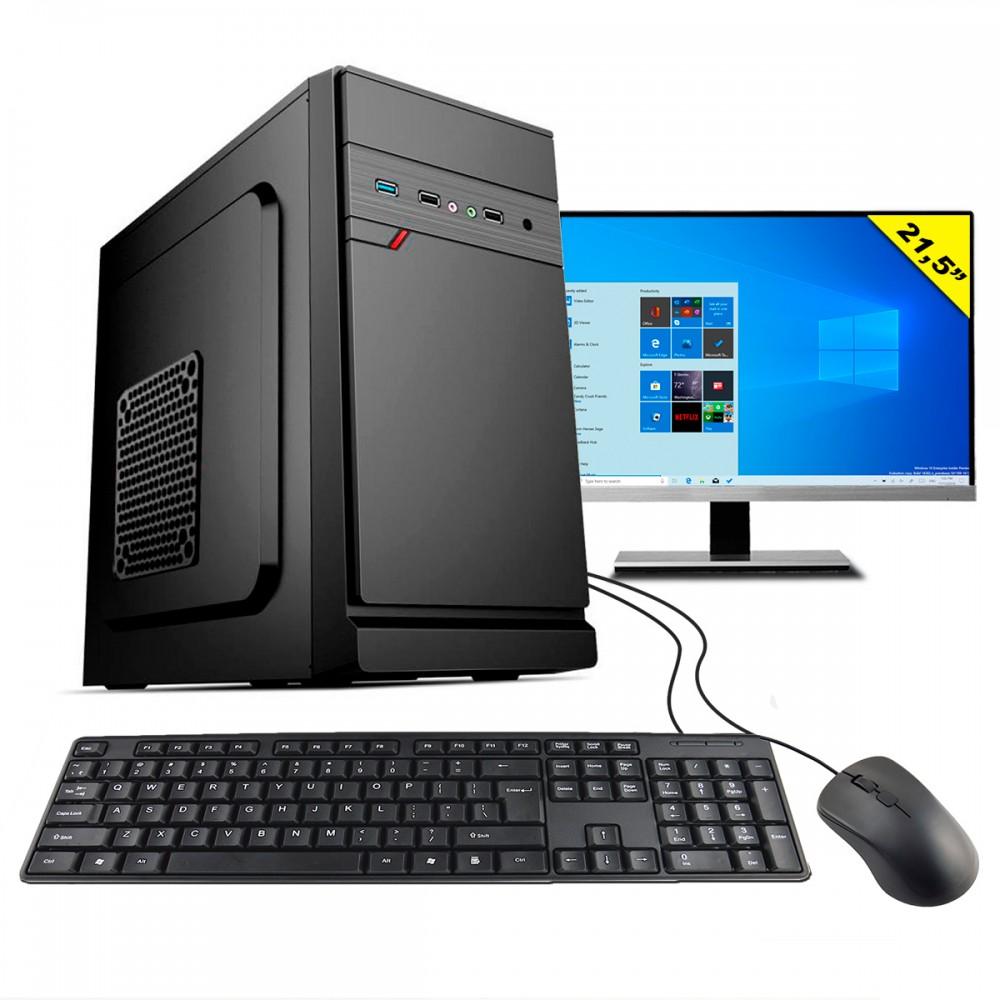 Computador HomeTech Completo HTDW-167 Intel i3-10100 3.60GHz 4Gb DDR4 SSD 120Gb Windows 10
