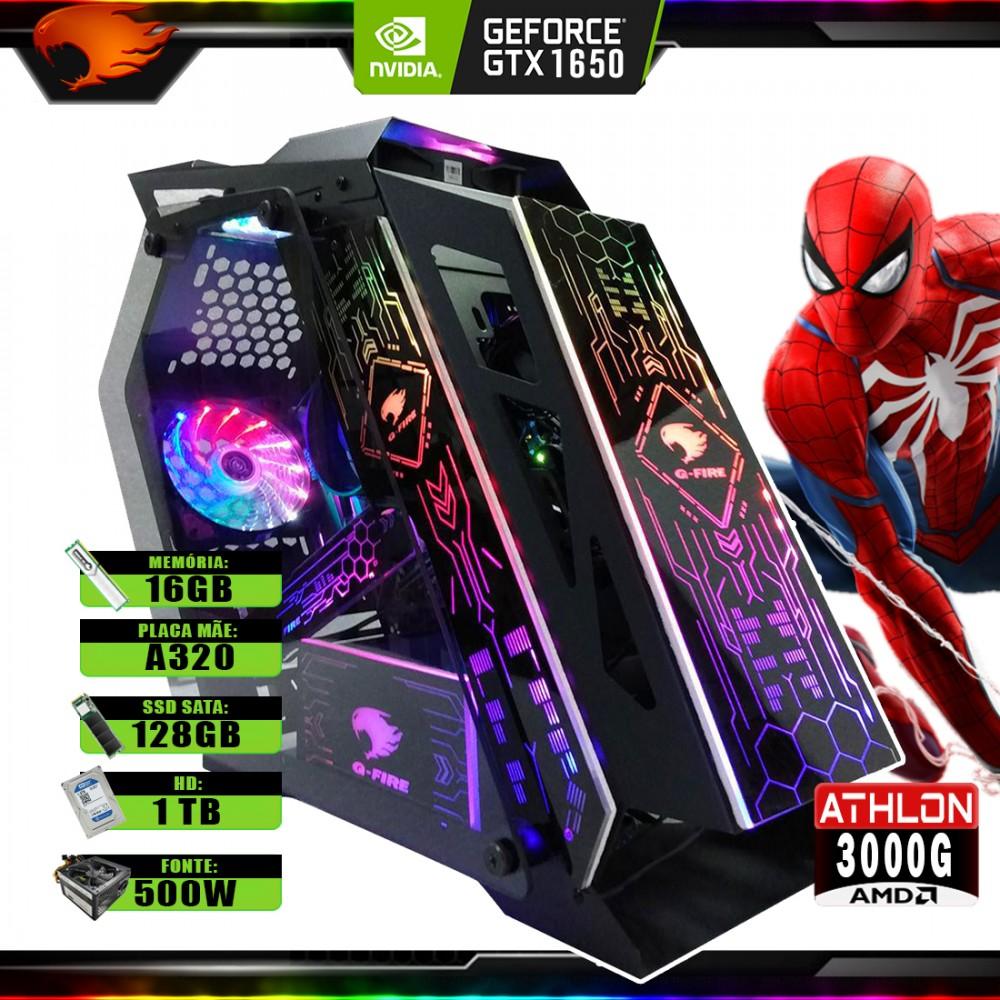 Pc Gamer G-Fire Htg-731 AMD 3000G 16Gb (Geforce GTX 1650 4GB) SSD 240GB HD 1TB 500W