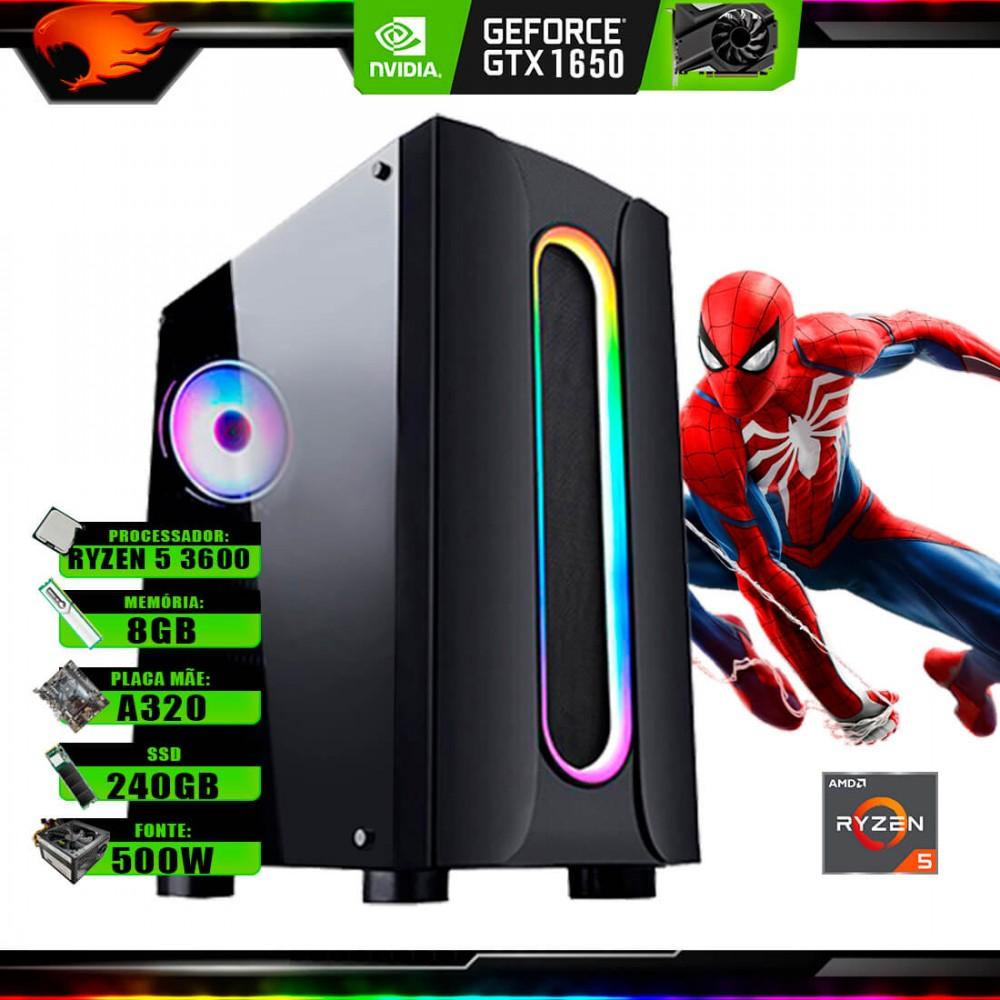 Pc Gamer G-Fire Htg-736 AMD Ryzen 5 3600 8Gb (GTX 1650 4Gb) SSD 240Gb 500W