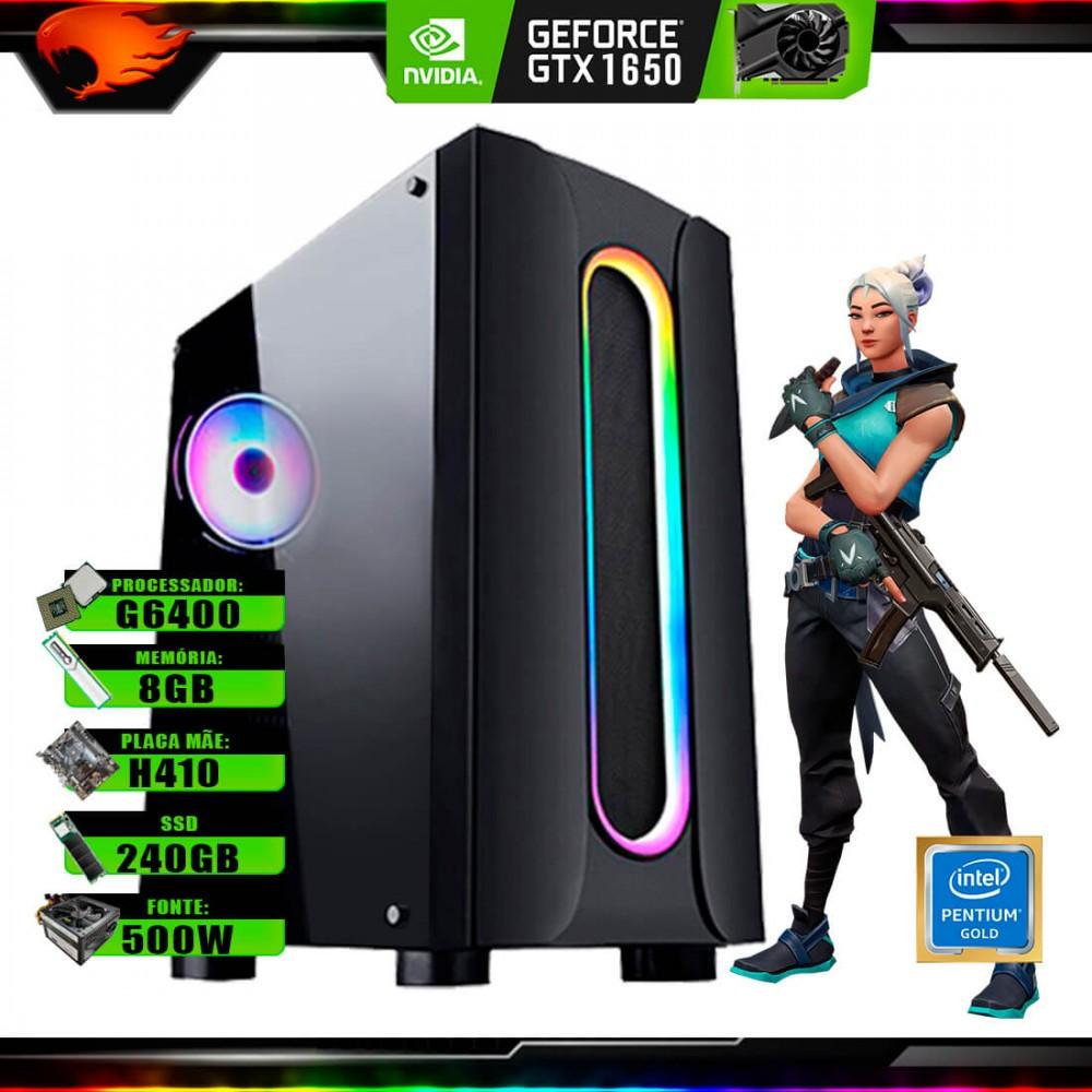 Pc Gamer G-Fire Htg-737 Intel G6400 8Gb (GTX 1650 4Gb) SSD 240Gb 500W