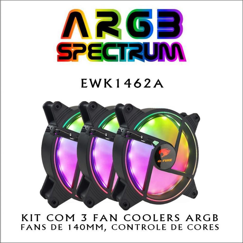 Kit com 3 FAN Coolers ARGB - EWK1462A