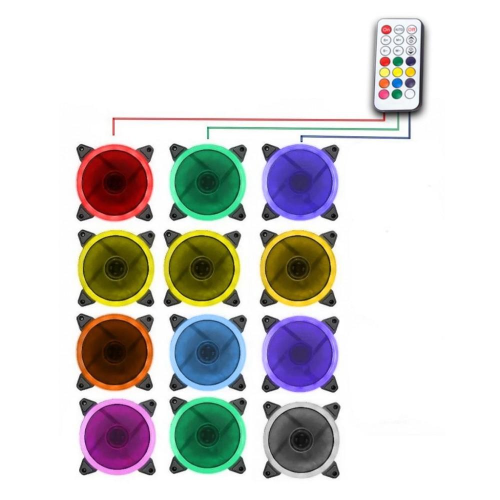 Controladora RGB Fan + Controle EWLC01