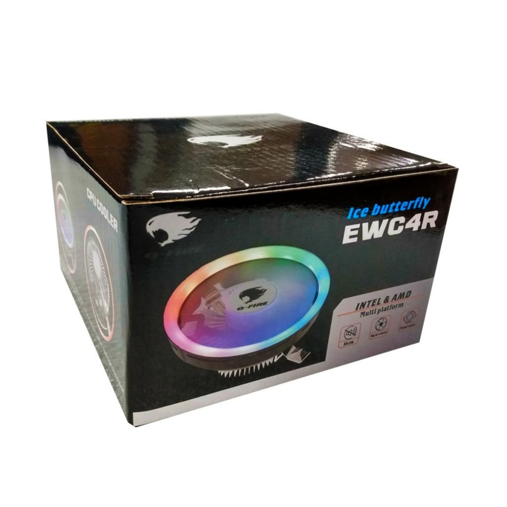 COOLER CPU INTEL/AMD RAINBOW 4 PINS EWC4R G-FIRE