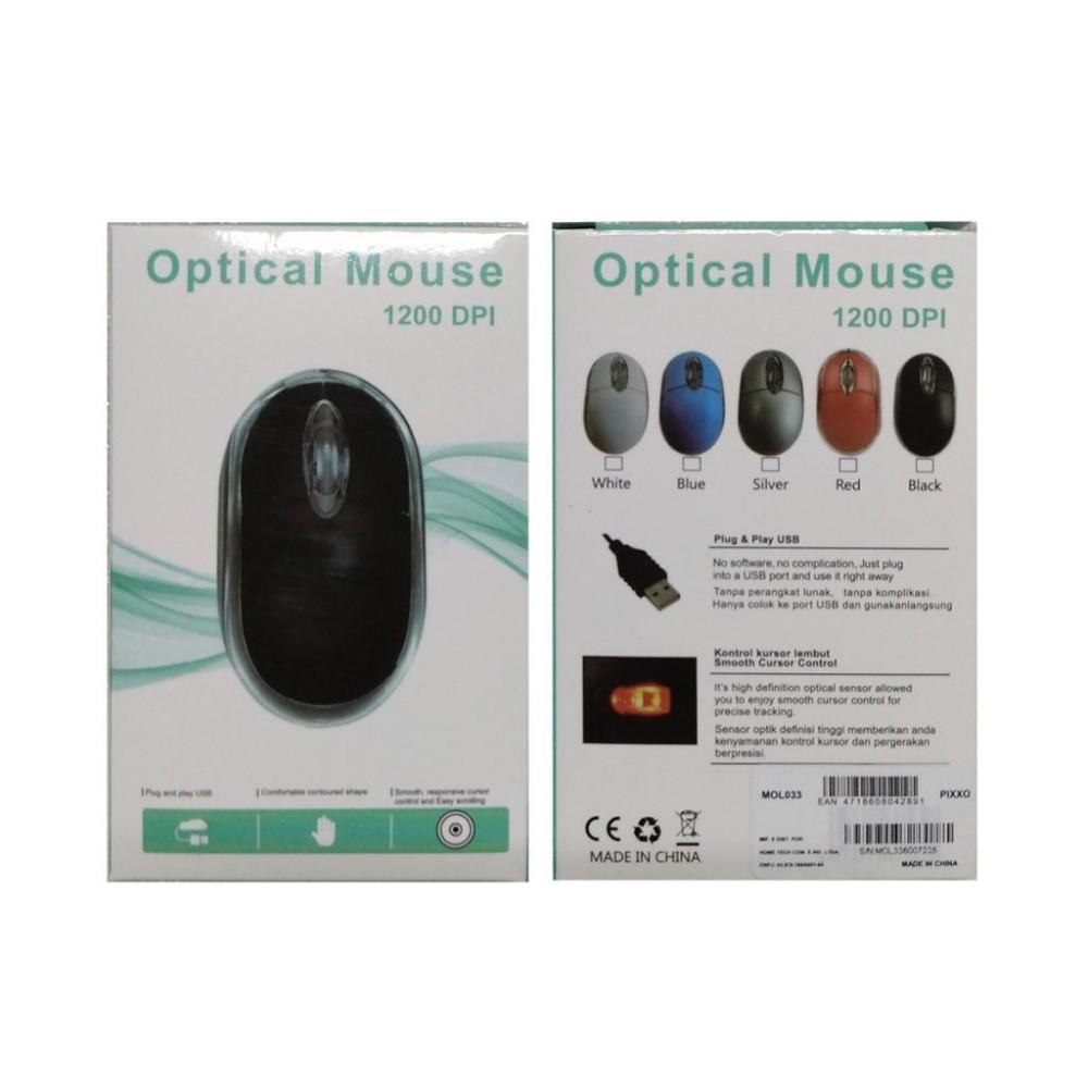 Mouse óptico super sensitivo 1200 DPI - MOL033UOBB